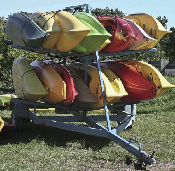 CLP-16K  Sixteen kayak trailer