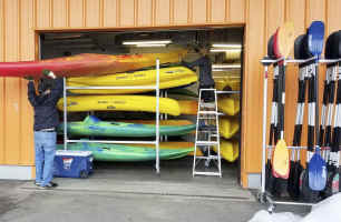 Storage Rack for paddles - canoe  Kayak SUP