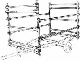 Seitech 3 Boat rack with 4th tier for spars