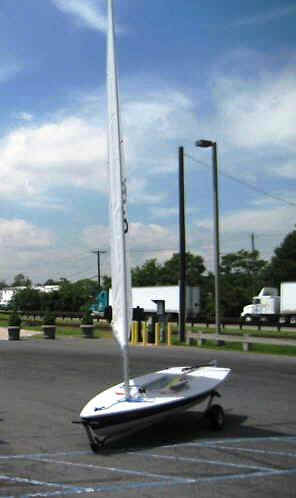 Seitech Dolly with a Laser Sailboat