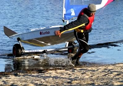 Seitech Beach Launching Dolly for Sunfish Sailboats