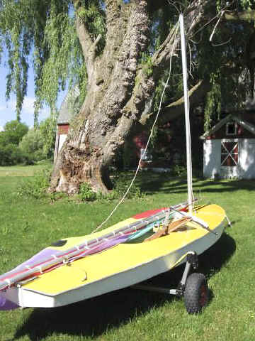 Sunfish Sailboat Dolly on Seitech Launching Dolly