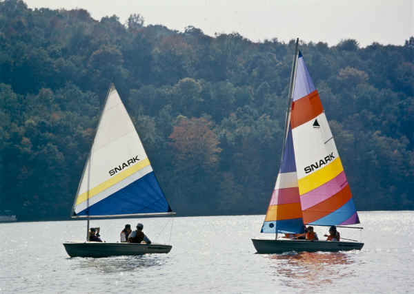 Snark Sunchaser I- One and Sunchaser II  Sailboats -Two on the lake