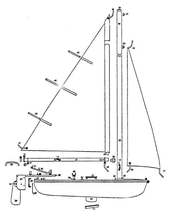 CastleCraft Sunchaser Two Sailboat Parts | Snark Parts for