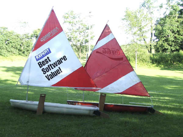 Sea Snark with CompUSA  Promotional Sail