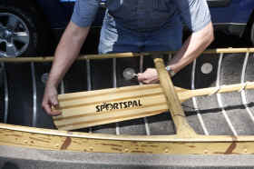 Sportspal Canoes Come With paddles as a standard option