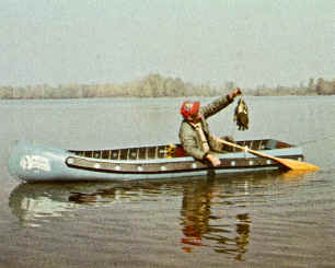 Sportspal Model X-13 Canoe in action on the lake
