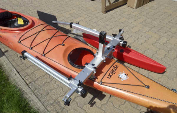 Kayak Sail Kit installed with Hydrodynamic Floats