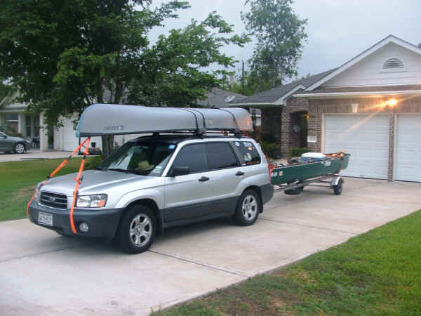 Trailex-SUT-200-S Canoe Trailer  shown with a Car Topped Canoe