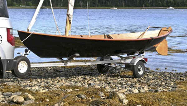 Trailex SUT-200-S Trailer with a Chesapeake Light Craft Pocket Cruiser Camper Dory