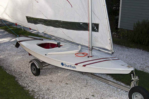 Trailex-SUT-200-S Trailer with-Sunfish Sailboat