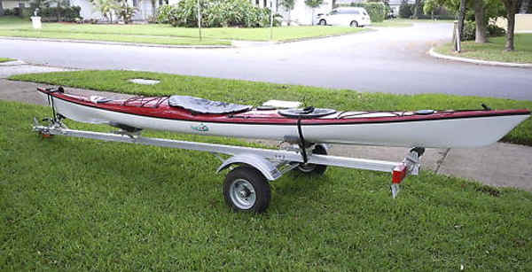 Kayak on Trailex Trailer