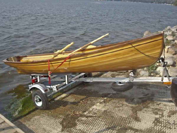 Trailex SUT-250-S Trailer with A Rowing Dory