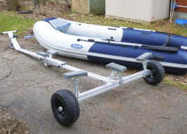 Zodiac Inflatable Boat on Trailex Launching Dolly