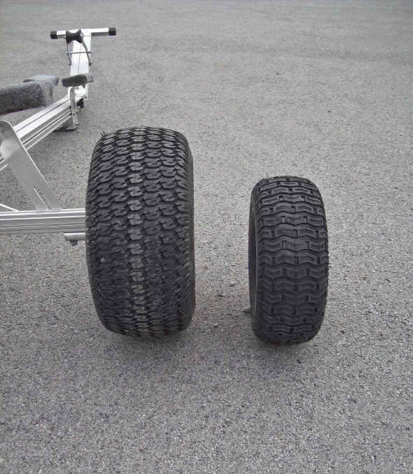 Trailex Universal Dolly with Super Size Tires and Comparison with Large Standard Wheel