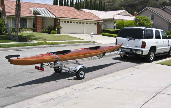 Trailex SUT-350-S Trailer Shown With 22' Sea Kayak