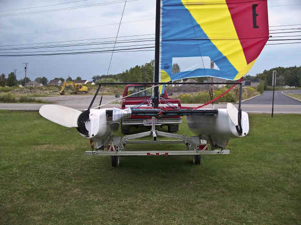 Trailex TX-416 Trailer Shown with Hobie Getaway Catamaran