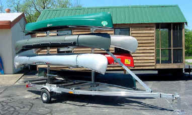 Ut-1000-8 Trailex Trailer with Canoes
