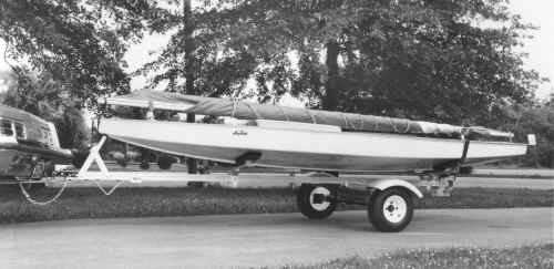 Trailex Model SUT-200 Trailer with Sunfish Sailboat