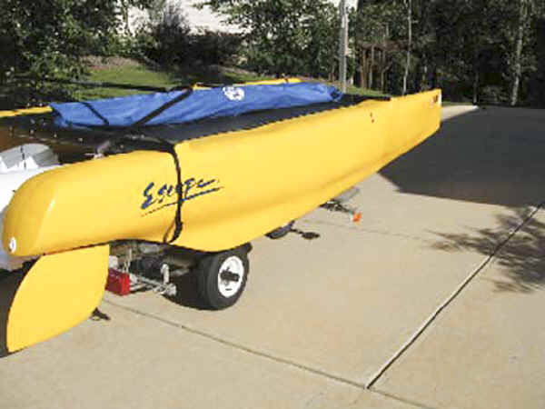 SUT-350-EP  Trailex Trailer with Escape (Nacra) Playcat Catamaran Sailboat