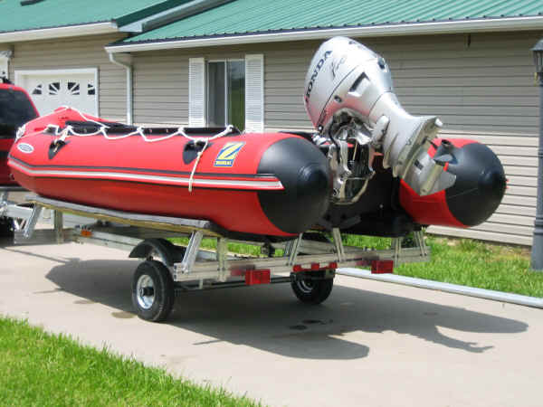 Trailex UT-850M Trailer with a Zodiac  Inflatable Boat