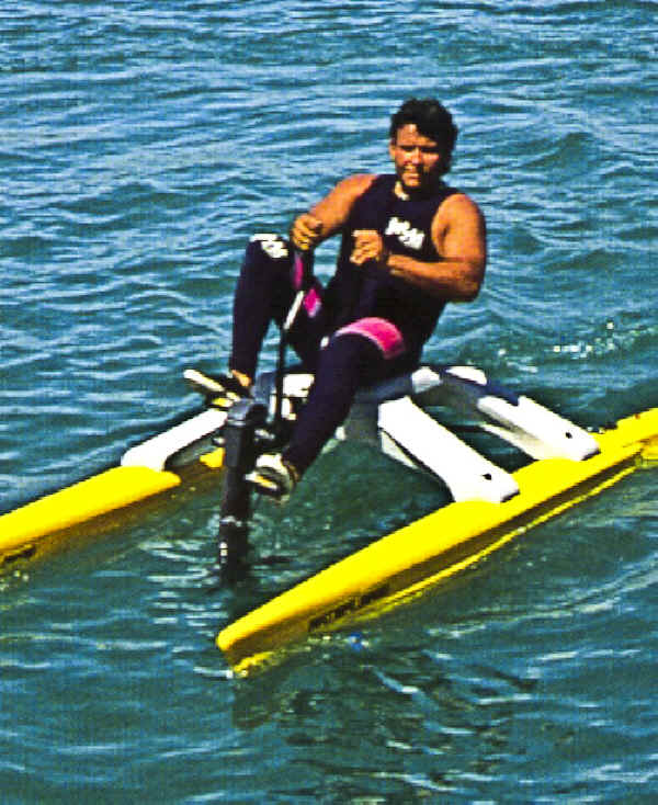 Water Bike with  Optional Arm Action